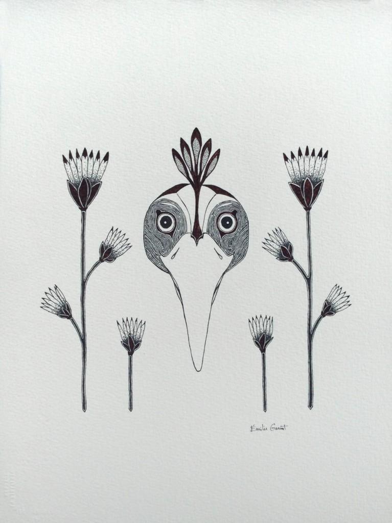 Oiseau-et-fleurs