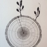 Autoportrait, encre et graphite sur papier Arches, 34,5 x 24 cm