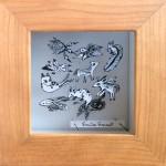 Émilie Garant Bestiaire 10,5 x 10,5 cm (incluant l'encadrement) 2017