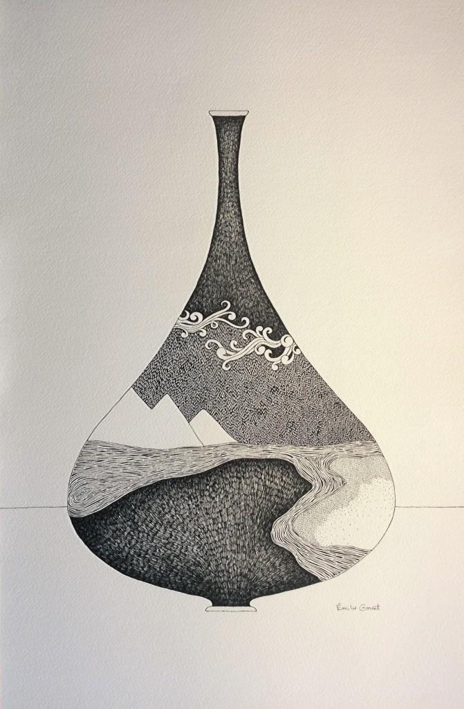 Vases sacrés / section 2 : Écosystèmes - 55 x 36 cm - 2017