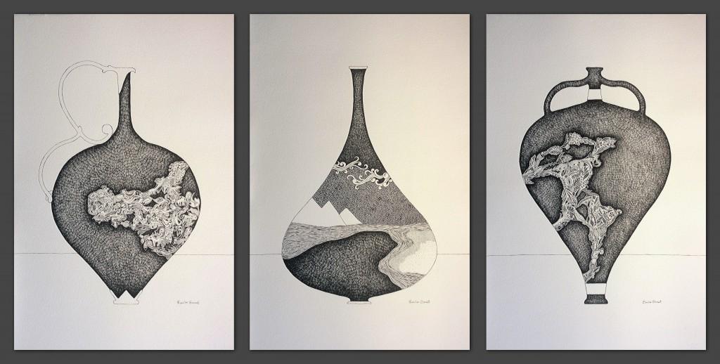 Vases sacrés - 55 x 108 cm - 2017