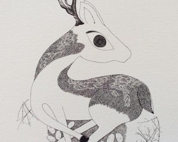 Biche et nid